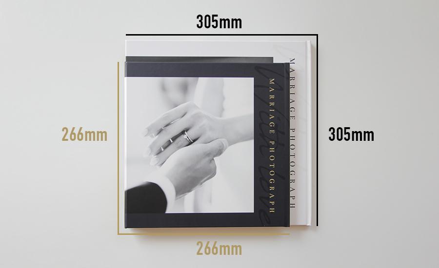 ウェディング写真台紙寸法