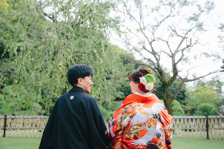 結婚式和装前撮り後撮り肥後細川庭園